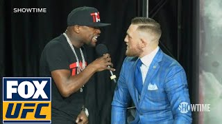 Video Floyd Mayweather fires back at Conor McGregor 'The fans can't fight for you' | TOR | UFC ON FOX MP3, 3GP, MP4, WEBM, AVI, FLV Desember 2018