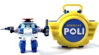 Поли Робокар в кейсе и Даник -  ロボカーポリー 로보카 폴리 - Ro-bo-ka Polli