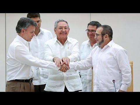 Κολομβία: Ιστορική συμφωνία με τους αντάρτες Φαρκ για τερματισμό των εχθροπραξιών