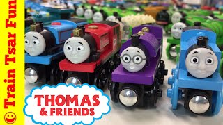 """I left some out! Do you know which ones? Our Thomas and Friends collection including Laarning Curve and even Tomy Wooden trains. Motorized trains too. All our locomotives, engines, coaches, vehicles, and cargo cars. What else do we need to look for?Please SUBSCRIBE for more Train fun: http://bit.ly/1v93HUTLeave a comment BUT PLEASE NOTE: All spam will be deleted and blocked. Comments such as """"Great video - check out my channel"""" will result in ban Help support our channel by buying on Amazon: http://amzn.to/2aUvc1fLEGO on Amazon: http://amzn.to/2aEgHxVMy LEGO Channel: http://www.youtube.com/user/bricktsarMy Toys Channel: http://www.youtube.com/user/jolson37My Son: http://www.youtube.com/user/theymightbebricksMy daughter: http://www.youtube.com/user/sowhosthatgirlMrs. BrickTsar: http://www.youtube.com/user/seagrove697My Website: http://www.traintsarfun.comKid and family friendly videos about toy trains, real trains, and more!Thomas the Tank Engine, Chuggington, LEGO trains, and more fun! トーマス大好き We love Thomas!Instagram: http://www.instagram.com/traintsarfunFacebook: http://www.facebook.com/traintsarfunTwitter: http://www.twitter.com/traintsarfunPlease don't spam my channel with generic fake comments. If I reply """"Shaka when the walls fell"""" that means failure or defeat. Don't do a comment  fail. Toy channels are notorious for spamming each other with emoji filled fake praise. It's pointless, rude, selfish, foolish, and an outright fail of a practice - so don't do it!Royalty Free Music:Kevin MacLeod (incompetech.com)Licensed under Creative Commons: By Attribution 3.0http://creativecommons.org/licenses/by/3.0More fun video! Check these out:Thomas Gashapon Capsules (surprise eggs): http://bit.ly/2dYPCJaExcellent Emily: http://bit.ly/2dxVtFMThomas the Tank Engine Collection: http://bit.ly/2dXqn6uLEGO DUPLO Trains: http://bit.ly/2dABtPALEGO Trains: http://bit.ly/2dKbUNDWe hope kids and adults all over the world kind enjoy our videos. While I do speak English, most videos ha"""