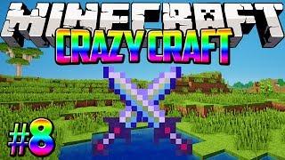 """The Ultimate Sword!"" Crazy Craft Minecraft Modded Survival #8 w/Lachlan&Preston"
