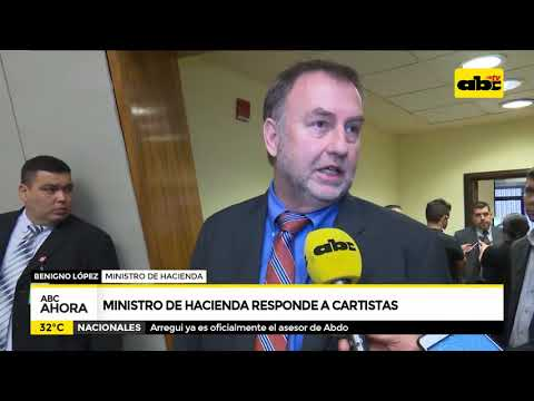 Ministro de Hacienda responde a cartistas