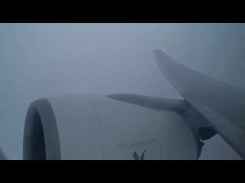 ✈ Boeing 777-300 Wing Flex during Turbulence on EK358 flight in bad weather over Nicobar Islands