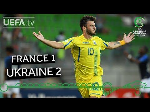 #U19EURO highlights: France 1-2 Ukraine