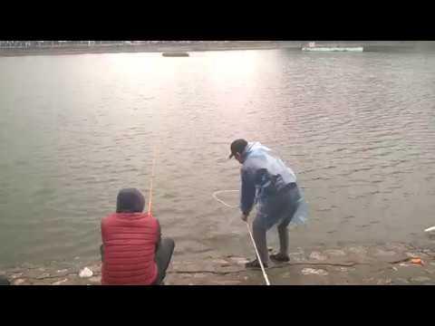 Mưa lạnh cần thủ vẫn đam mê câu cá cả đàn...