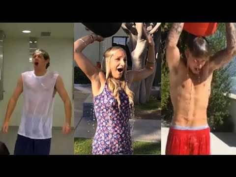 BEST CELEBRITY ICE BUCKET CHALLENGE?! (Taylor Swift + One Direction + Justin Bieber)