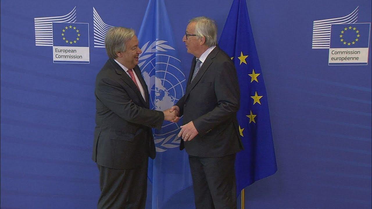 Συνάντηση   στις Βρυξέλλες του Ζαν-Κλοντ Γιούνκερ με Αντόνιο Γκουτέρες