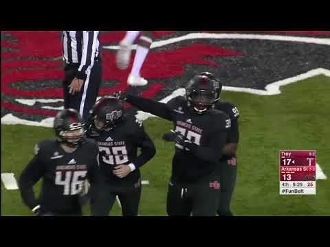 Troy Trojans down Arkansas State Red Wolves 32-25