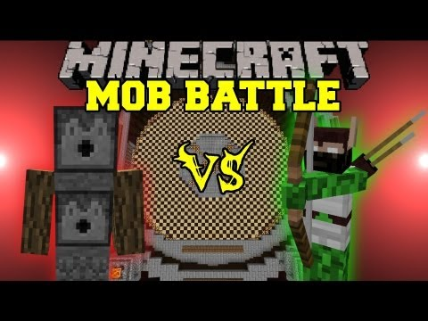 Elf Hunter Vs. Arrow Golems - Minecraft Mob Battles - Legendary Beasts Mod