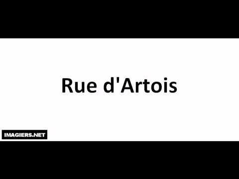 발음되다 # Rue d'Artois