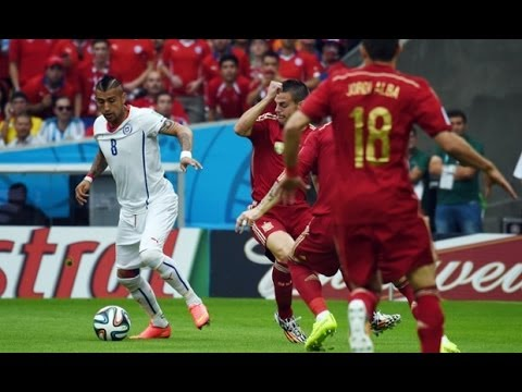 SPAIN 0 VS CHILE 2,  FIFA WORLD CUP 2014 MATCH HIGHLIGHTS