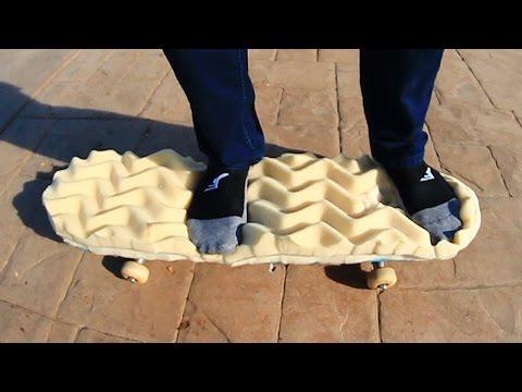 NO SHOES MEMORY FOAM SKATEBOARDING! | YOU MAKE IT WE SKATE IT EP 63 (видео)