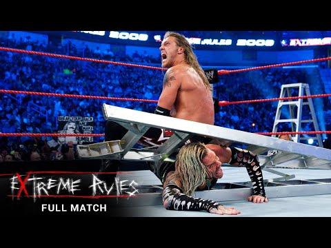 FULL MATCH- Edge vs Jeff Hardy – World Heavyweight Championship Ladder Match: WWE Extreme Rules 2009