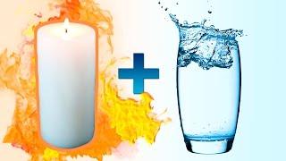 Горячий парафин + вода