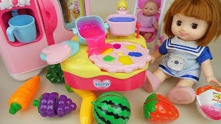 Video Fruit jelly and baby doll kitchen play baby Doli house MP3, 3GP, MP4, WEBM, AVI, FLV April 2019