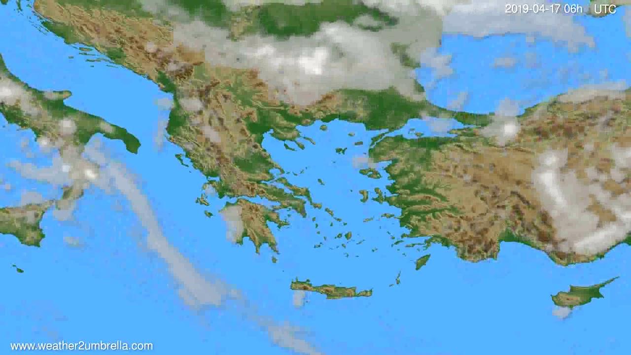 Cloud forecast Greece // modelrun: 00h UTC 2019-04-15
