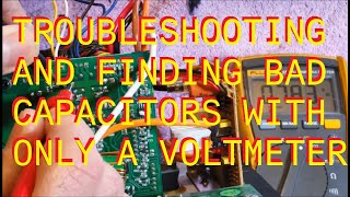Troubleshooting audio humm/buzz in a Monitor Audio RSW12 Subwoofer using only a digital voltmeter. Verification using ESR meters.