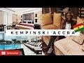 GHANA TRAVEL VLOG    MY STAY AT THE  KEMPINSKI HOTEL ACCRA