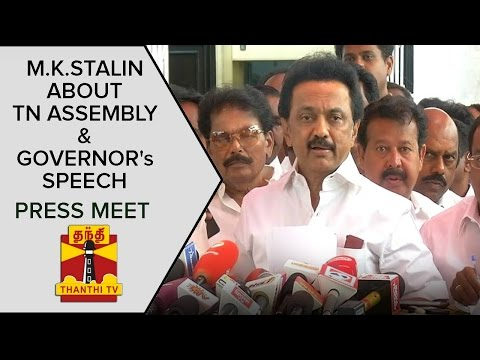M-K-Stalins-Press-Meet-About-TN-Assembly-Session-Governor-Rosaiahs-Speech