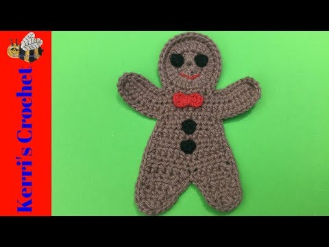 Crochet Gingerbread Man Tutorial