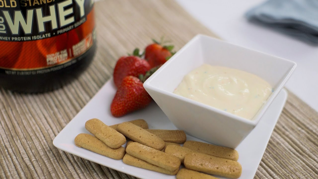 Ashley Leahy's Birthday Cake Protein Pudding Dip