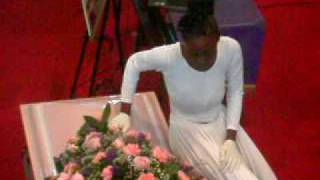 Sister C - My Sister's Funeral. Whitney Dancing to Shekinah Glory's Yes @ her Mom's Funeral!