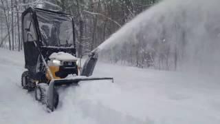 3. Cubcadet xt1 lt50 with 3x snowblower attatchment