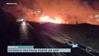 Incêndio destrói parte de área de proteção permanente em Marília