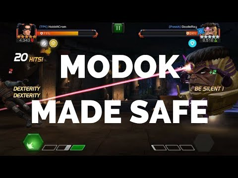 Safely Fighting Modok - Marvel Contest Of Champions