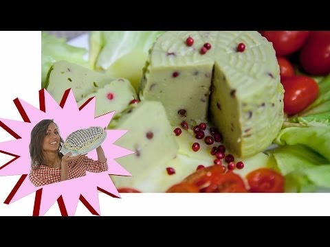 formaggio di farina di piselli e pepe rosa - ricetta