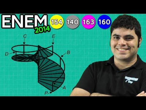 ENEM 2014 Matemática #25 - Projeção Ortogonal da Escada Caracol (com pegadinha)
