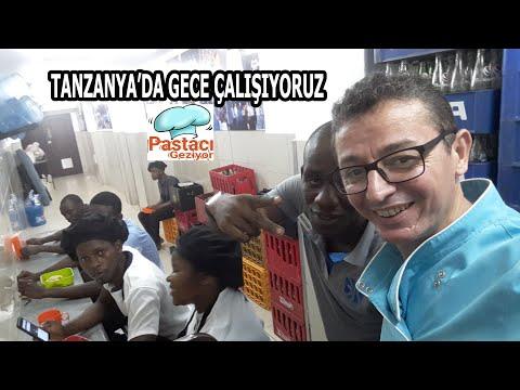 TANZANYA'DA Pastanede Gece Çalışmak Afrika