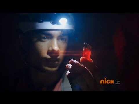 "Power Rangers Dino Charge - Tyler Finds The Red Energem | Episode 1 ""Powers From The Past"""