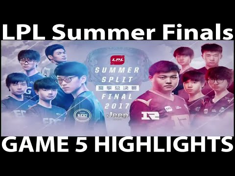 RNG vs EDG Finals Game 5 Highlights LPL Summer Split | Royal Never Give Up vs  Edward Gaming