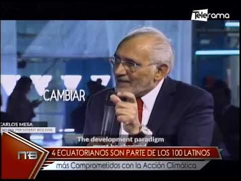 4 ecuatorianos son parte de los 100 latinos más comprometidos con la acción climática