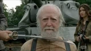 The Governor kills Hershel (The Walking Dead season 4 scene)