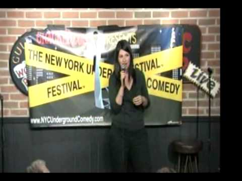 Alison Rosen performing stand up at Comic Strip Live—dating, underwear and Rachel Zoe