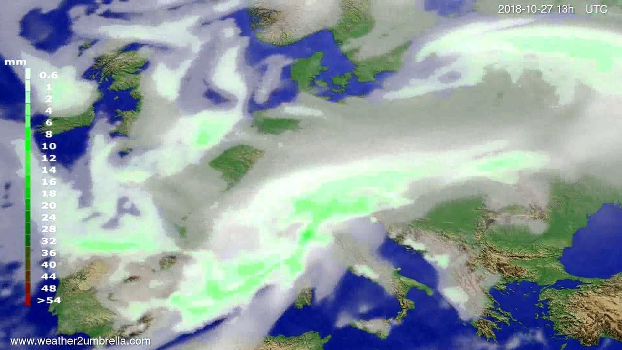 Precipitation forecast Europe 2018-10-24