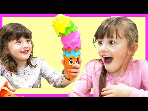 Isla And Olivia Pretend Play Food Toys Ice Cream Game!!