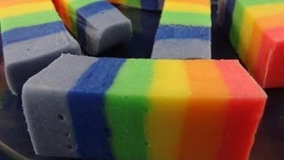 How To Make Rainbow Fudge - with yoyomax12 - YouTube