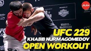 Video UFC 229: Khabib Nurmagomedov Full Open Workout + Argument With Conor McGregor Fans! MP3, 3GP, MP4, WEBM, AVI, FLV Oktober 2018