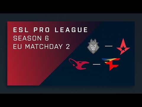 CS:GO - G2 vs. Astralis - Map 1 [Overpass] - Day 2 ESL Pro League S6 - EU Main Stream (видео)