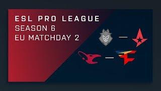 CS:GO - G2 vs. Astralis - Map 1 [Overpass] - Day 2 ESL Pro League S6 - EU Main Stream