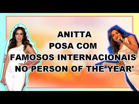 ANITTA POSA COM FAMOSOS INTERNACIONAIS NO 'PERSON OF THE YEAR'