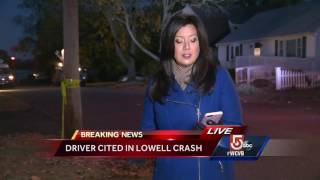 Driver cited in Lowell crash