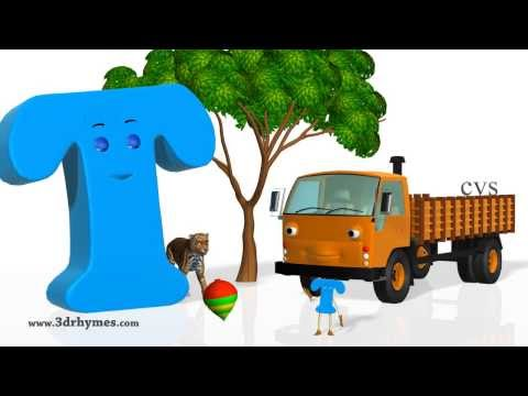 Abc - Phonics Song 4 - 3D Animation Nursery rhymes