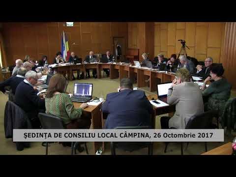 Sedinţă Consiliu Local Câmpina 26 octombrie 2017