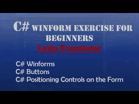 Starting Out With Visual C# : Latin Translator (Intro To Visual C#) – Windows Forms