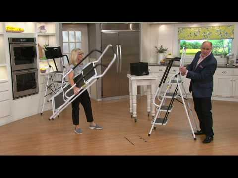 Simple Step Ladder w/ Padded Rails and Caddy on QVC