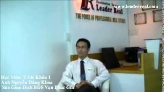 Cảm Nhận Của Học Viên VAK Khóa 1- Anh Nguyễn Đăng khoa